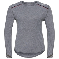 Shirt l/s crew neck Vallée Blanche WARM, grey melange, large