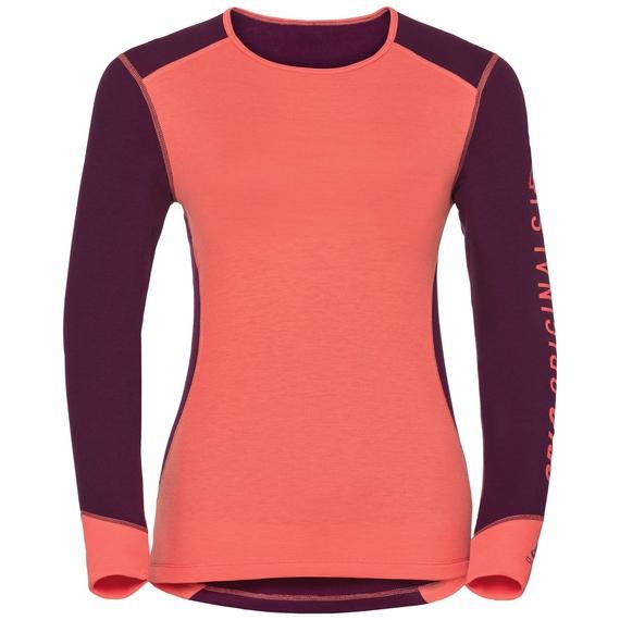Revelstoke Warm baselayer shirt women, pickled beet - hot coral, large