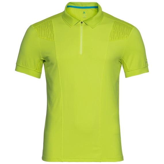 Polo s/s SAIKAI CERAMICOOL, acid lime, large