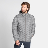Men's HOODY COCOON N-THERMIC WARM Insulated Jacket, grey melange, large