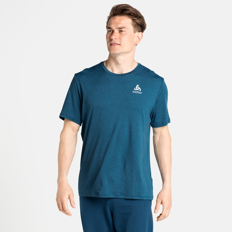 Herren RUN EASY 365 T-Shirt, stunning blue melange, large