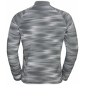 Men's FLI LIGHT PRINT Full-Zip Midlayer, odlo silver grey - graphic SS21, large