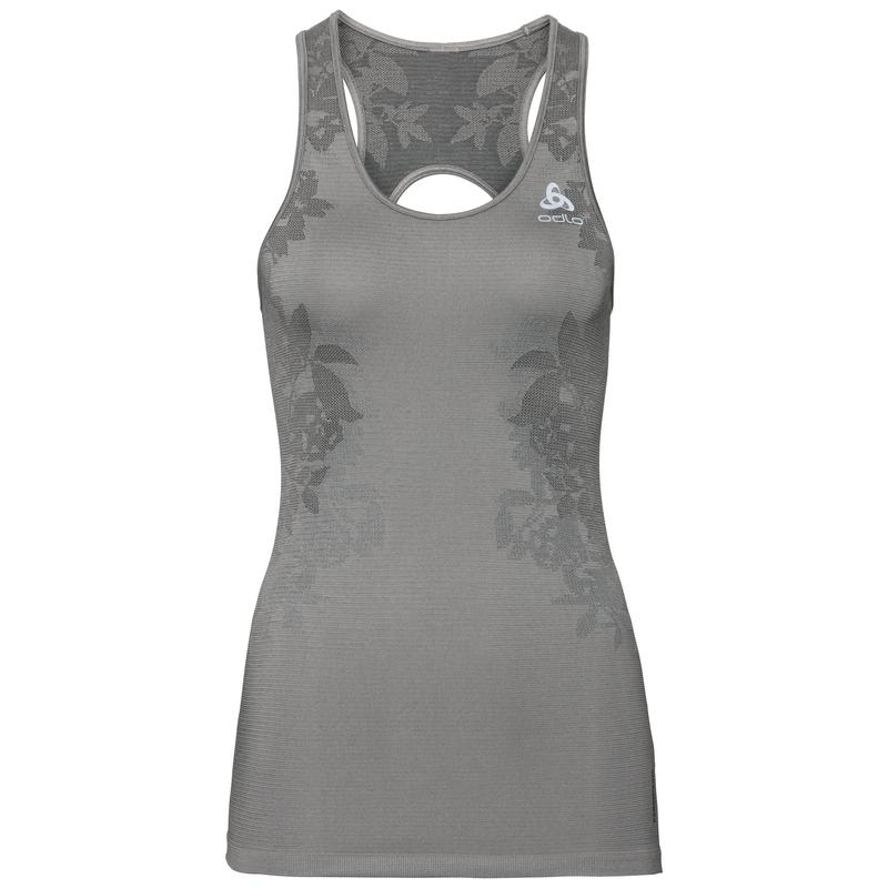 CERAMICOOL BLACKCOMB PRO Baselayer Top, odlo concrete grey - odlo silver grey - black, large