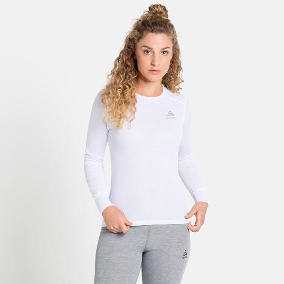 ACTIVE WARM ECO-basislaagtop met lange mouwen voor dames, white, large