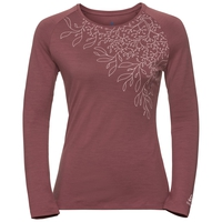 Women's ALLIANCE Long-Sleeve Top, roan rouge - leaf print FW19, large