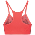 Sports Bra SEAMLESS SOFT, fiery coral - grey melange, large