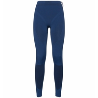 Pants EVOLUTION WARM SMU, estate blue - black, large