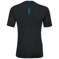 Ceramicool seamless baselayer shirt  men, black - lake blue, large