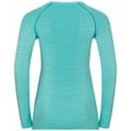 Women's ESSENTIAL SEAMLESS Long-Sleeve Running T-Shirt, jaded melange, large