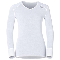 SUW Top Active Originals Warm langärmeliges Oberteil mit V-Ausschnitt, white, large