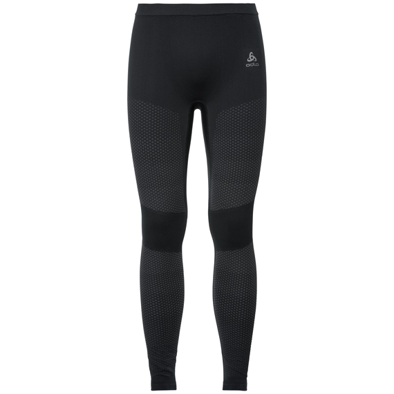 SUW Bukser Performance Essentials Warm, black - odlo graphite grey, large