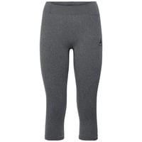 Women's PERFORMANCE WARM 3/4 Base Layer Pants, grey melange - black, large