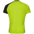 Stand-up collar s/s 1/2 zip MORZINE ELEMENT, acid lime - black, large