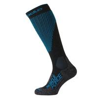 SKI MUSCLE FORCE WARM extralange Socken, odlo graphite grey - blue jewel, large