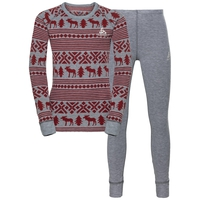 Set ACTIVE Originals WARM REINDEER, grey melange - red dahlia, large