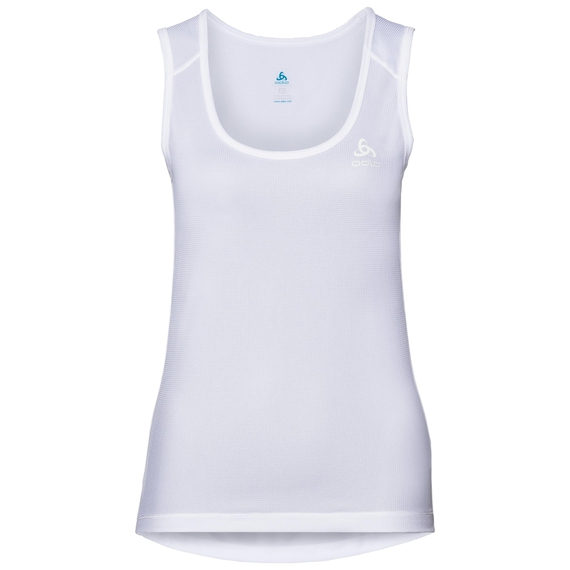 SUW TOP Crew neck Singlet ACTIVE Cubic LIGHT, white - snow white, large