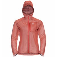 Wasserdichte Damen ZEROWEIGHT DUAL DRY Jacke, hot coral, large