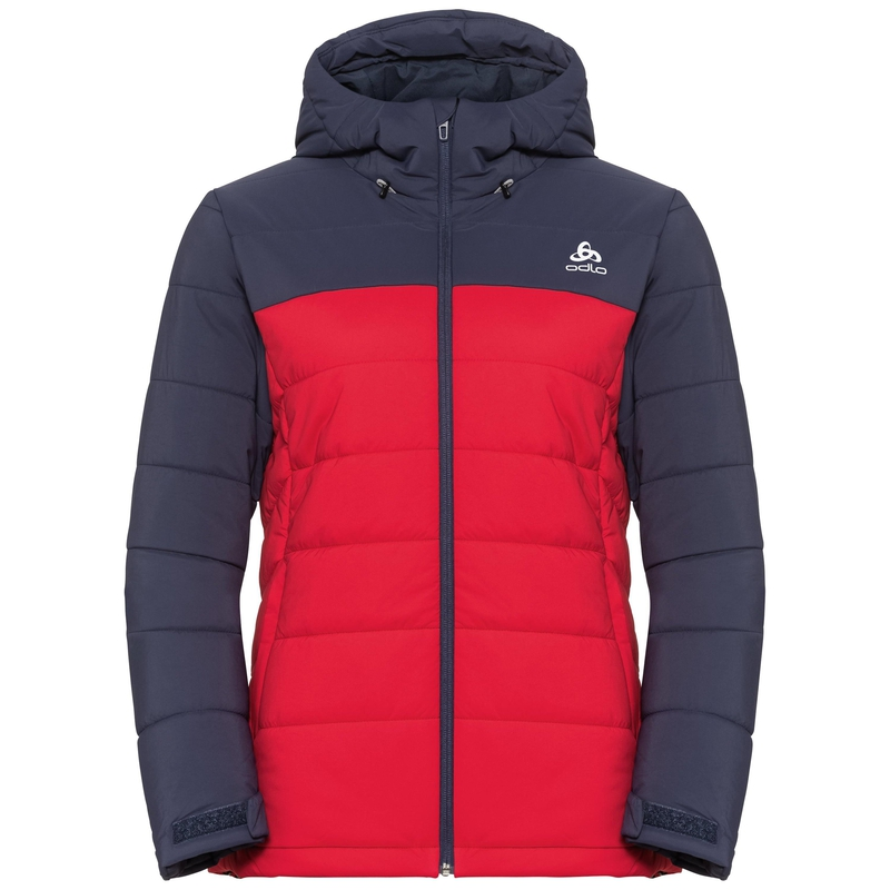 Women's COCOON NORDIC FAN Jacket, diving navy - formula one, large