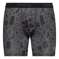 SUW Bottom Boxer ACTIVE  EVERYDAY 2 pack, odlo graphite grey - outdoor AOP SS19 - black, large