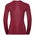 PERFORMANCE WARM-basislaagtop met lange mouwen voor dames, rumba red - mesa rose, large