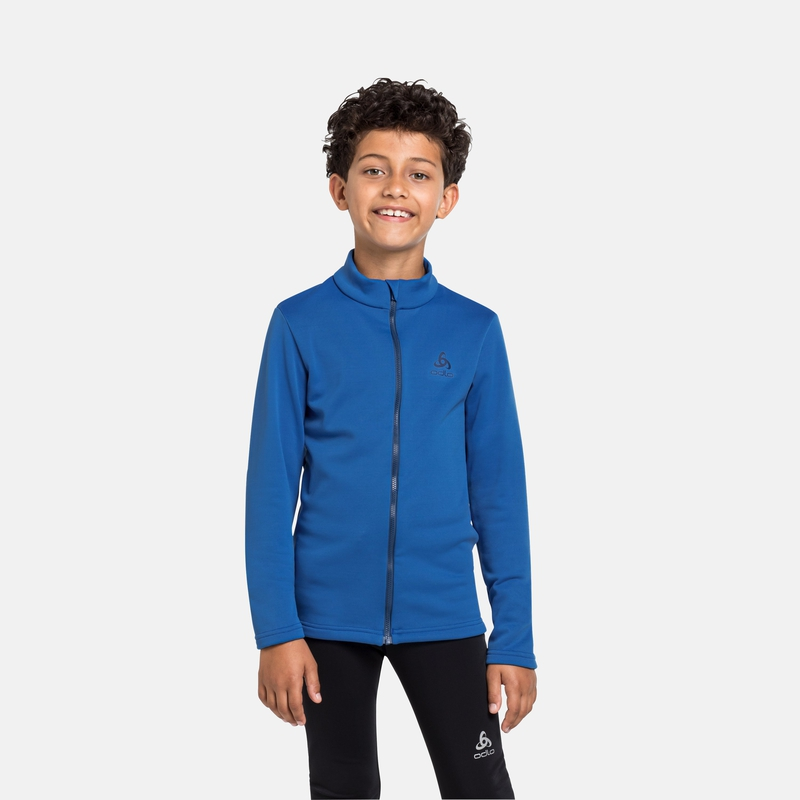 The Berra kids mid layer zip, nautical blue, large