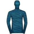 Men's BLACKCOMB Long-Sleeve Base Layer Top with Face Mask, poseidon - blue jewel - atomic blue, large