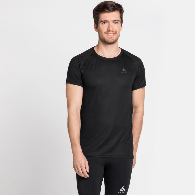 ACTIVE F-DRY LIGHT-basislaag-T-shirt voor heren, black, large