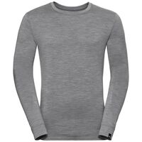 Natural 100 Merino Warm baselayer shirt men, grey melange - grey melange, large