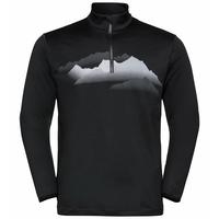 Men's TRAFOI 1/2 Zip Midlayer, black - graphic FW20, large