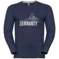 Shirt l/s crew neck CITY PROGRAM, peacoat Zermatt, large