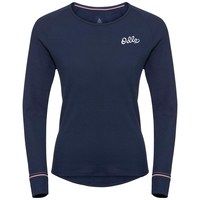 ACTIVE WARM ORIGINALS-sportonderkleding met lange mouwen voor dames, diving navy, large