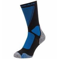 Unisex ACTIVE WARM XC Crew Socks, black - directoire blue, large