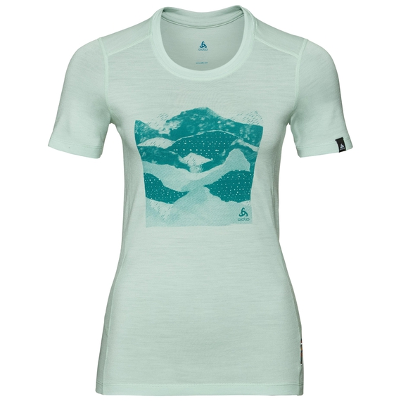 Women's ALLIANCE T-Shirt, surf spray - collage print SS19, large