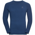 Men's UNITY KINSHIP LIGHT Midlayer Top, estate blue melange, large