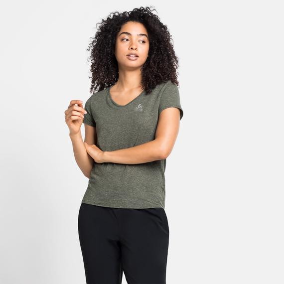 Damen HALDEN LINENCOOL T-Shirt, climbing ivy melange, large