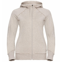 Damen ALMA NATURAL Midlayer Hoody, silver cloud melange, large