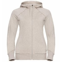 Women's ALMA NATURAL Full-Zip Hoody, silver cloud melange, large