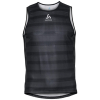Men's ZEROWEIGHT Cycling Base Layer Singlet, odlo graphite grey - black, large