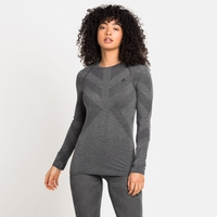 Women's KINSHIP LIGHT Long-Sleeved Base Layer Top, grey melange, large