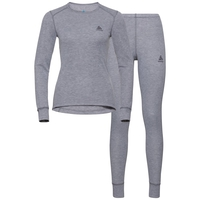 ACTIVE WARM Funktionsunterwäsche-Set, grey melange, large