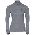 Active Originals Warm langärmeliges Shirt mit halblangem Reißverschluss und Rollkragen, grey melange, large