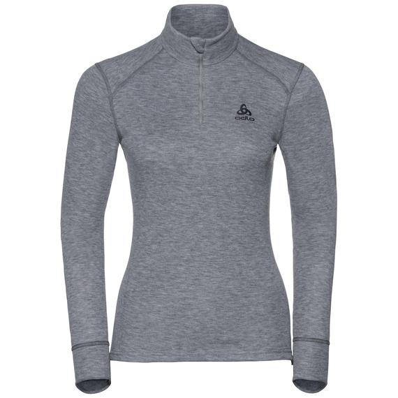 Shirt l/s turtle neck 1/2 zip ACTIVE ORIGINALS Warm, grey melange, large
