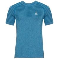 T-shirt SEAMLESS ELEMENT da uomo, mykonos blue melange, large