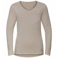 Women's LOU LINENCOOL Long-Sleeve Top, silver cloud melange, large