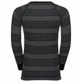 BL TOP crew neck l/s ACTIVE WARM KIDS, black - grey melange - stripes FW19, large