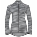 Veste intermédiaire à zip intégral FLI LIGHT PRINT pour femme, odlo silver grey - graphic SS21, large