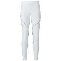 Pantaloni per sci di fondo MUSCLE Light, white - odlo graphite grey, large