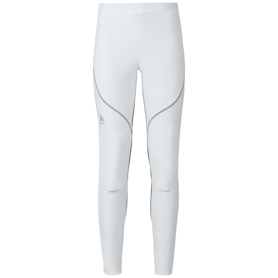Cross-country pants MUSCLE Light, white - odlo graphite grey, large