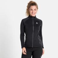 Women's PROITA Full-Zip Midlayer Top, black, large