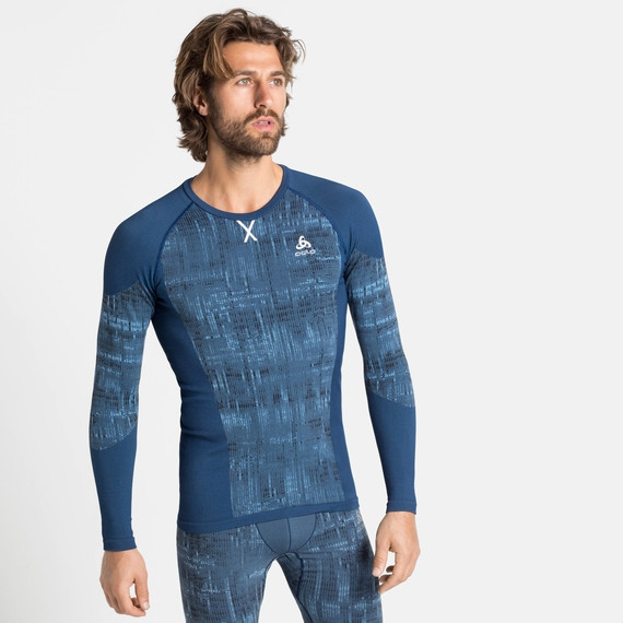 Men's BLACKCOMB Baselayer Top, estate blue, large